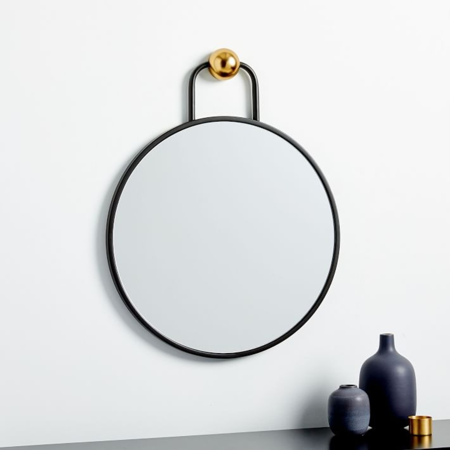 West Elm Geometric Hook Wall Mirror, Small - image-1