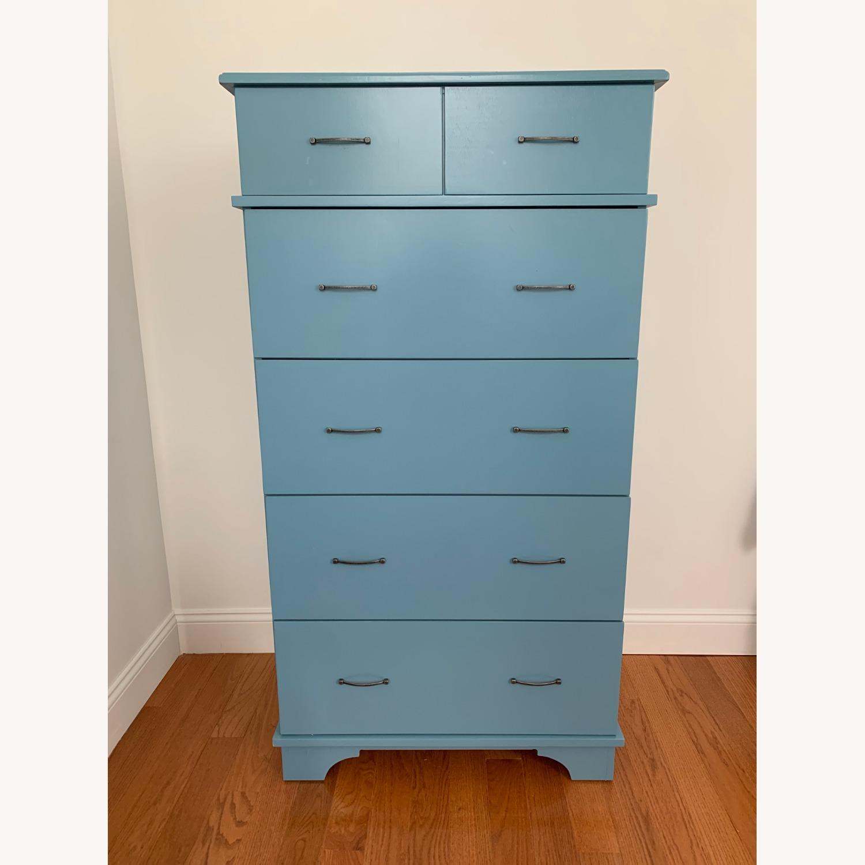 Gothic Furniture Light Blue Dresser - image-0