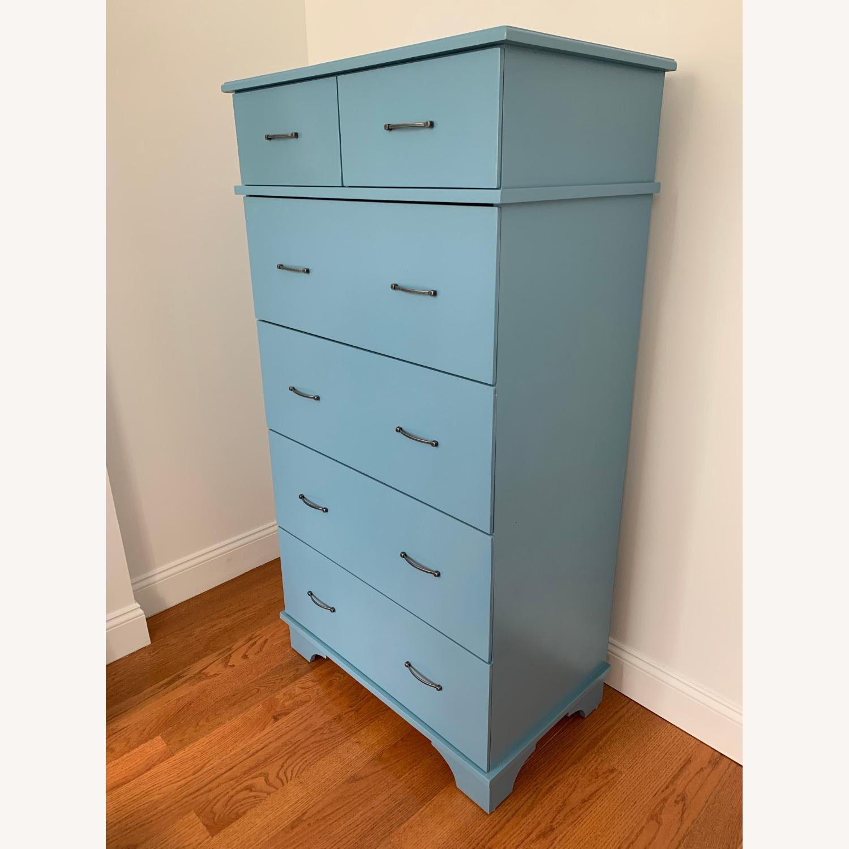 Gothic Furniture Light Blue Dresser - image-1