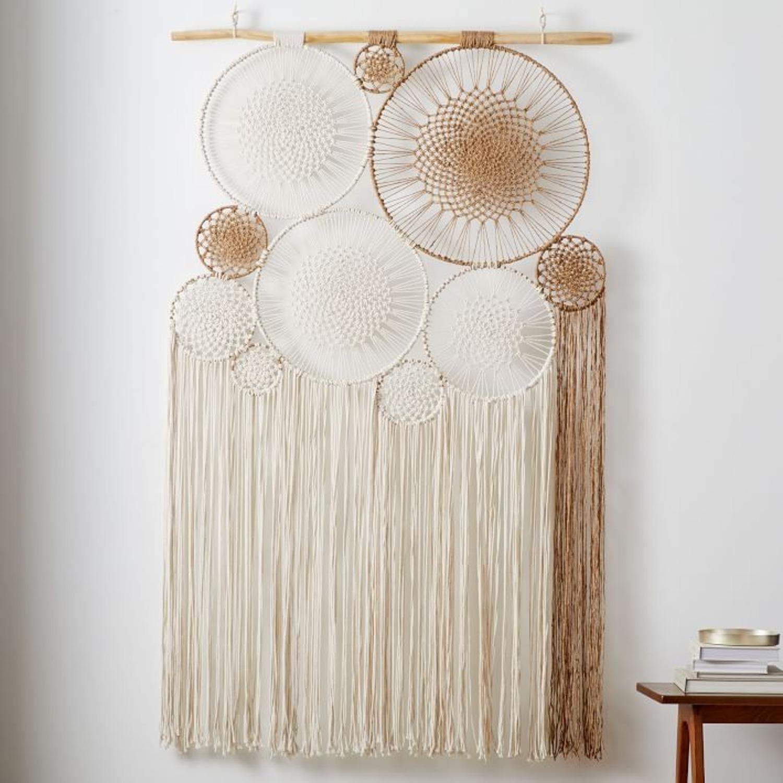 West Elm Handwoven Macrame Tapestry Wall Art - image-1