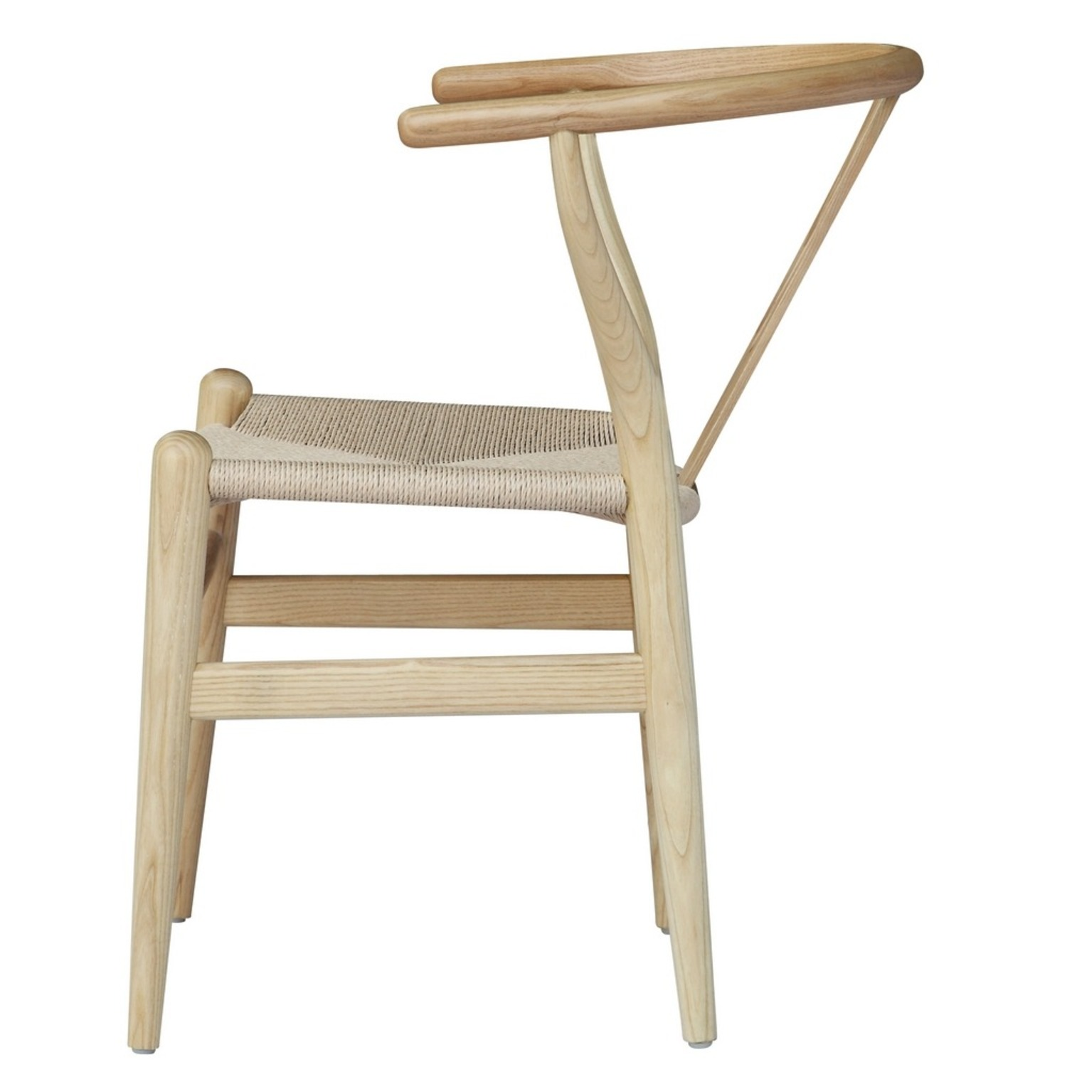 Dining Chair In Natural Frame & Natural Hemp Seat - image-3