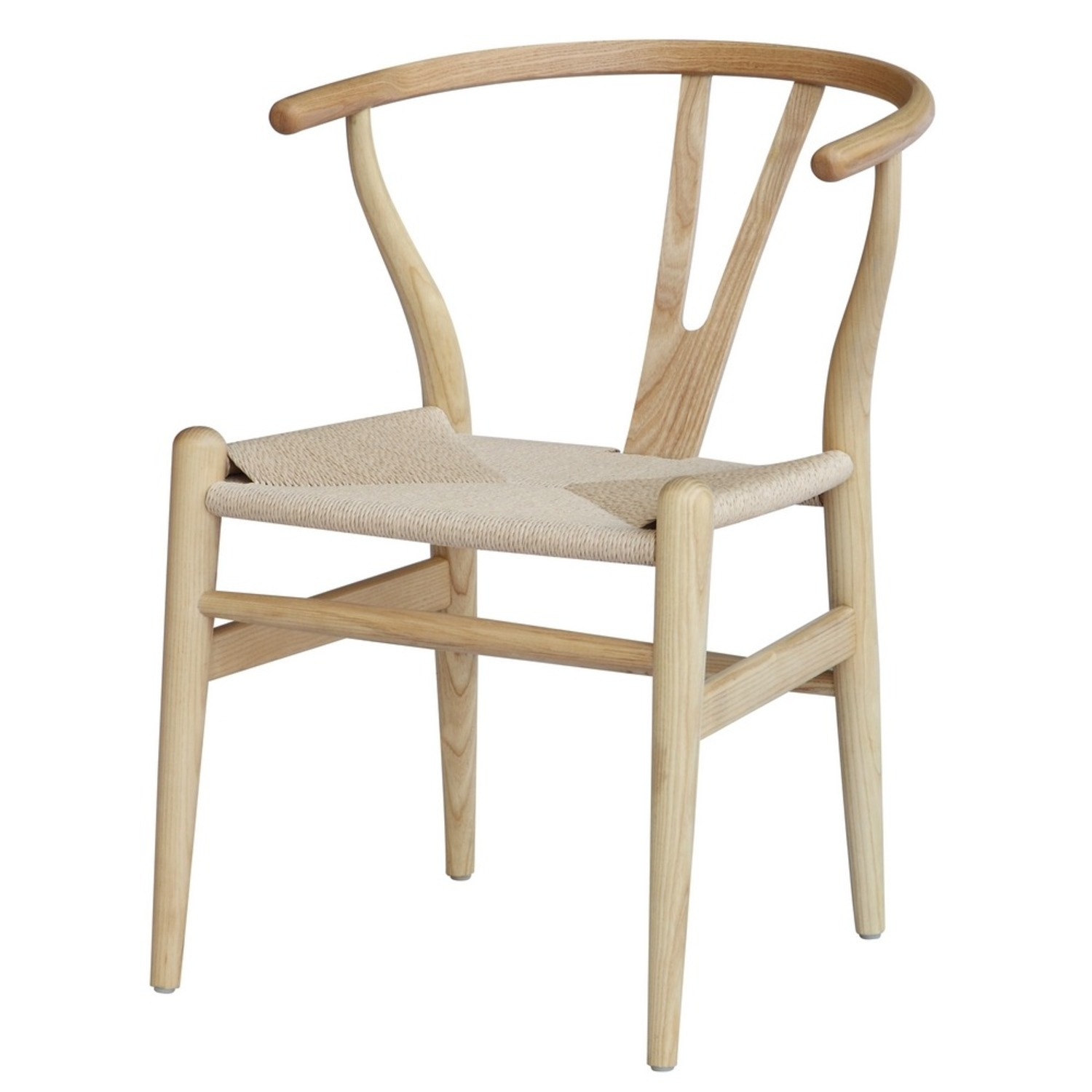 Dining Chair In Natural Frame & Natural Hemp Seat - image-4