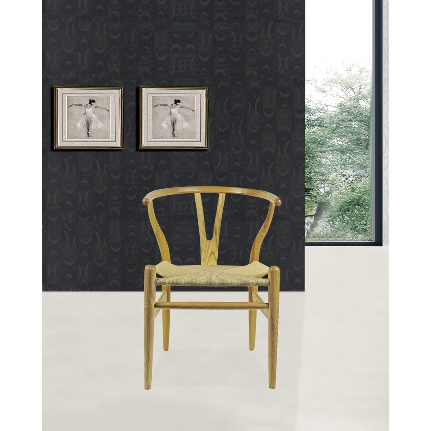 Dining Chair In Natural Frame & Natural Hemp Seat - image-7