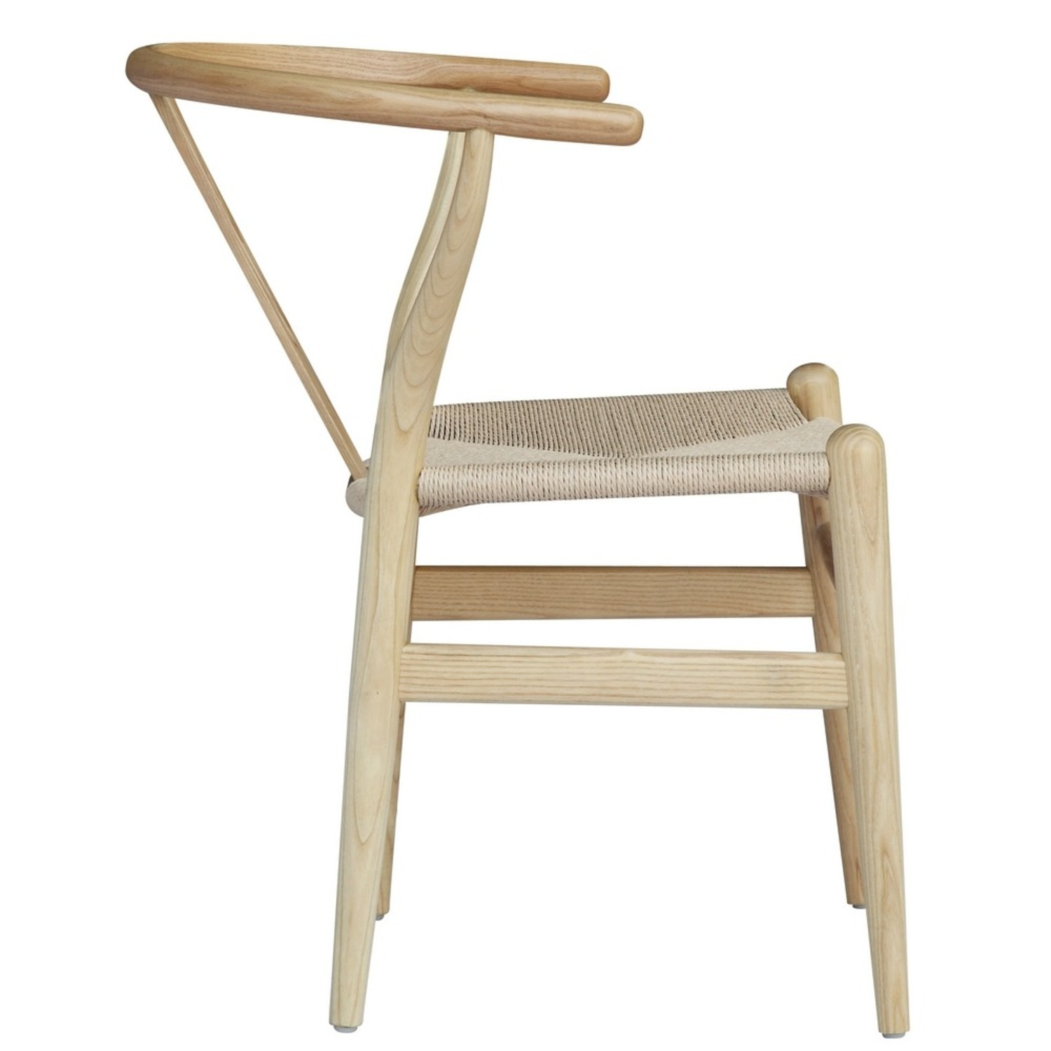Dining Chair In Natural Frame & Natural Hemp Seat - image-1