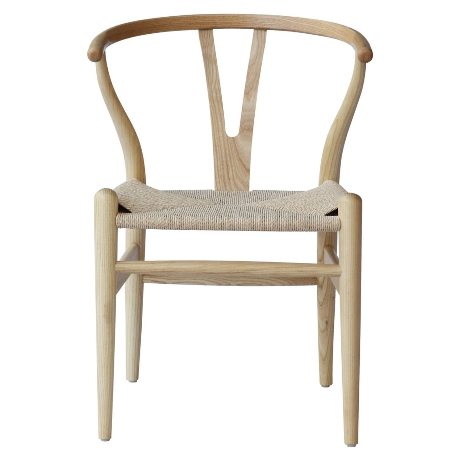Dining Chair In Natural Frame & Natural Hemp Seat - image-5