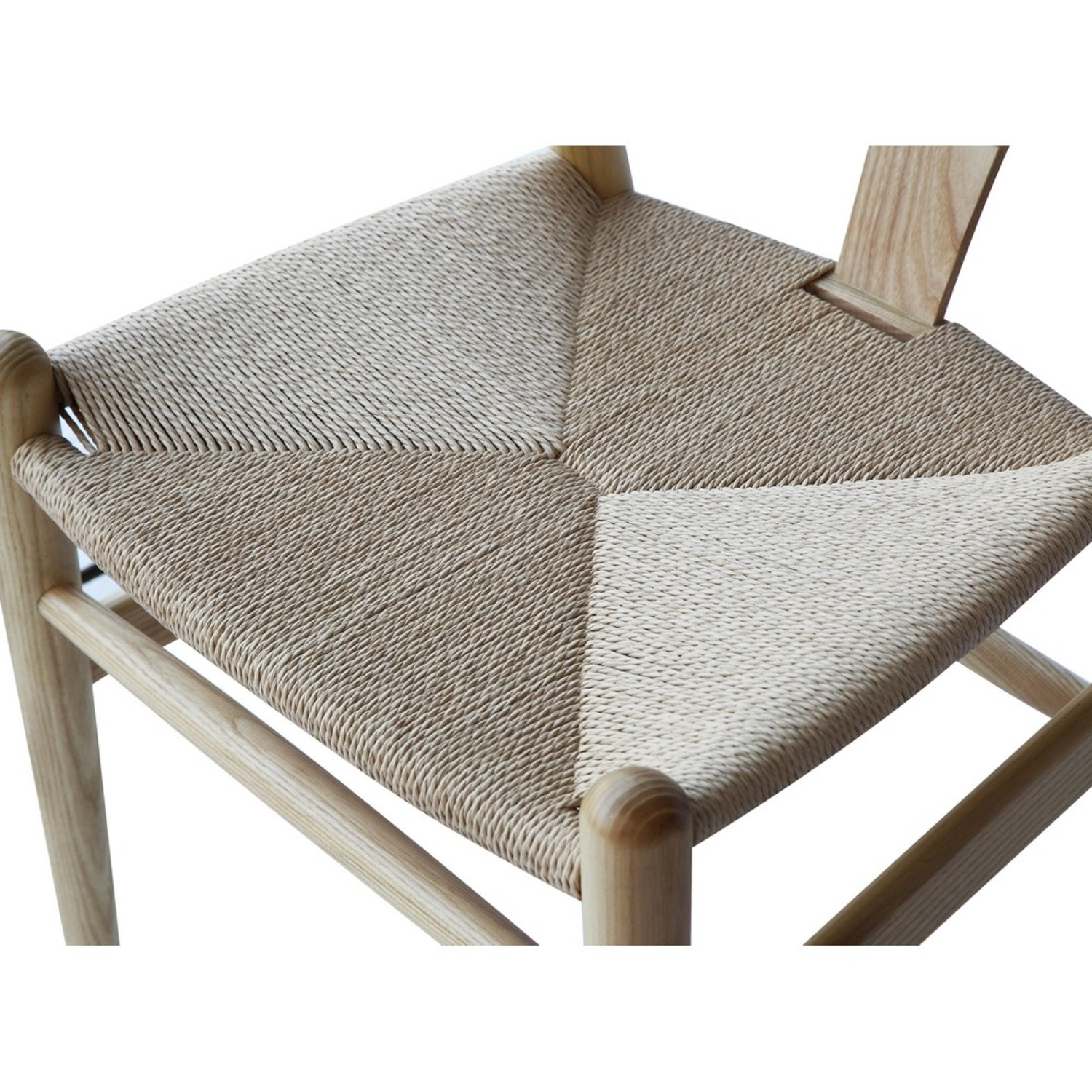 Dining Chair In Natural Frame & Natural Hemp Seat - image-6