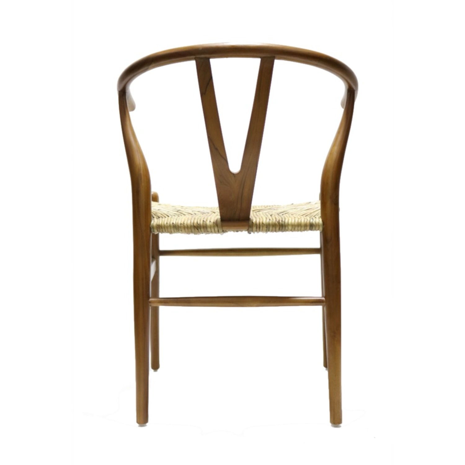 Dining Chair In Walnut Frame & Natural Hemp Seat - image-3