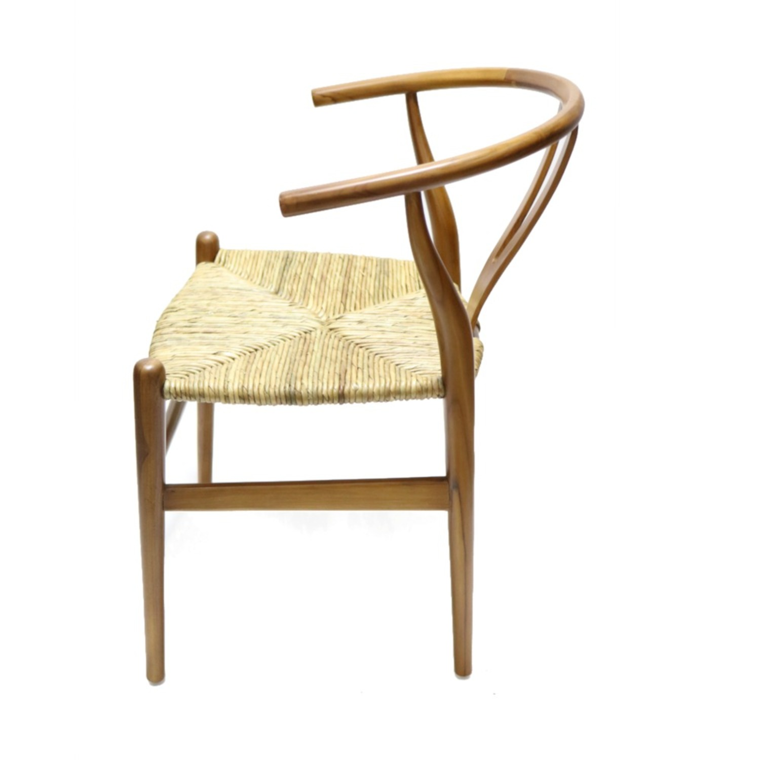 Dining Chair In Walnut Frame & Natural Hemp Seat - image-4