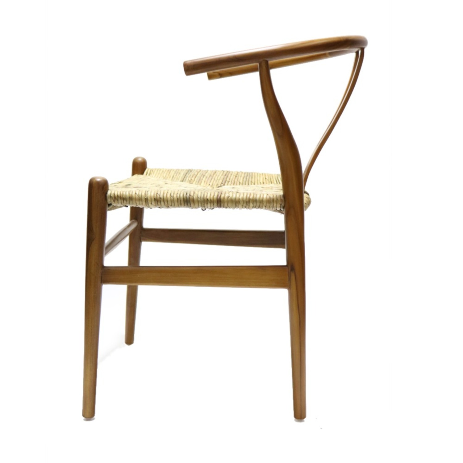 Dining Chair In Walnut Frame & Natural Hemp Seat - image-5