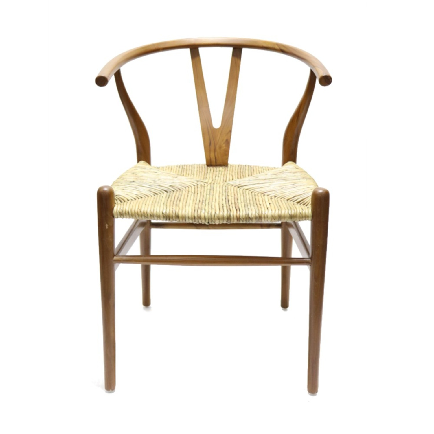 Dining Chair In Walnut Frame & Natural Hemp Seat - image-6