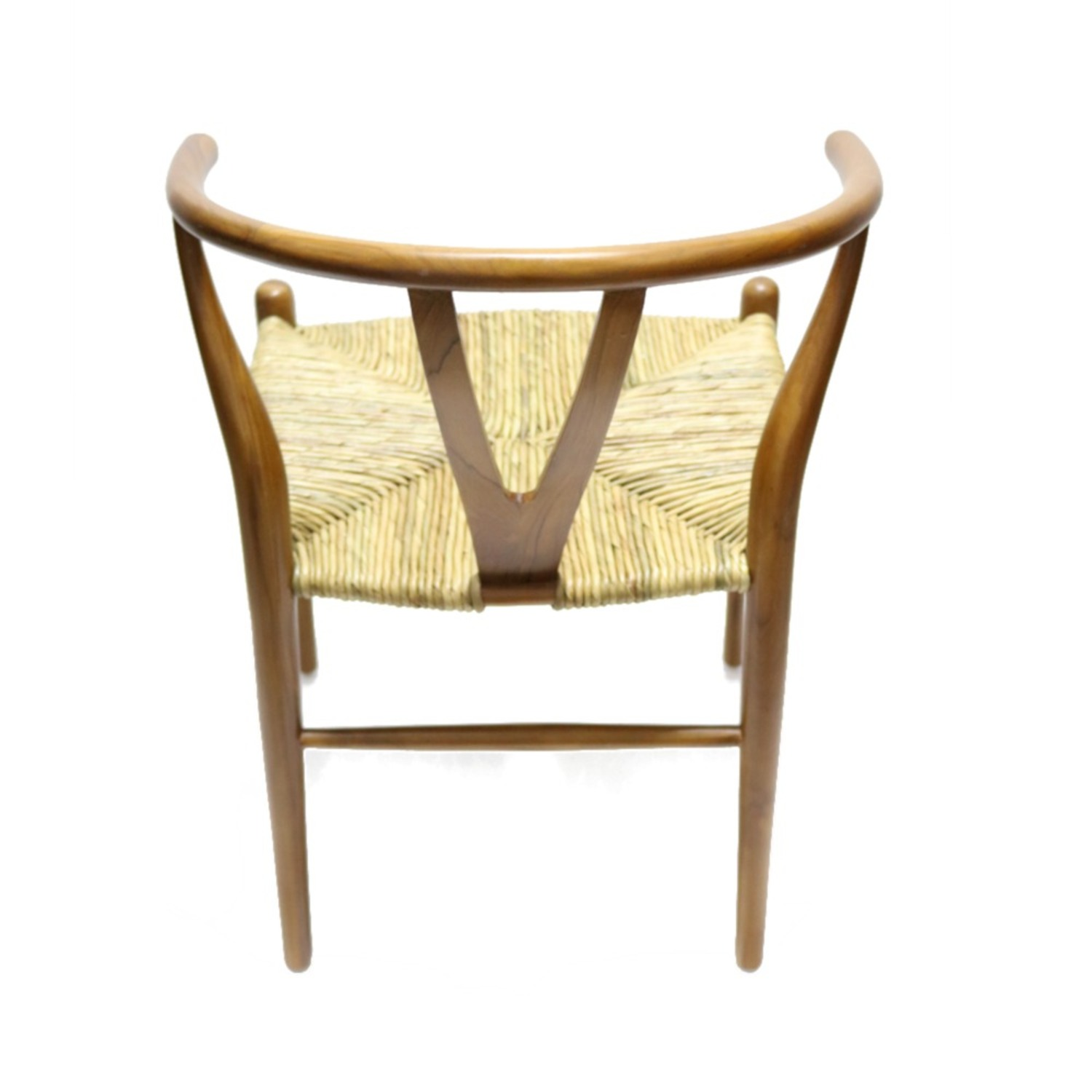 Dining Chair In Walnut Frame & Natural Hemp Seat - image-2