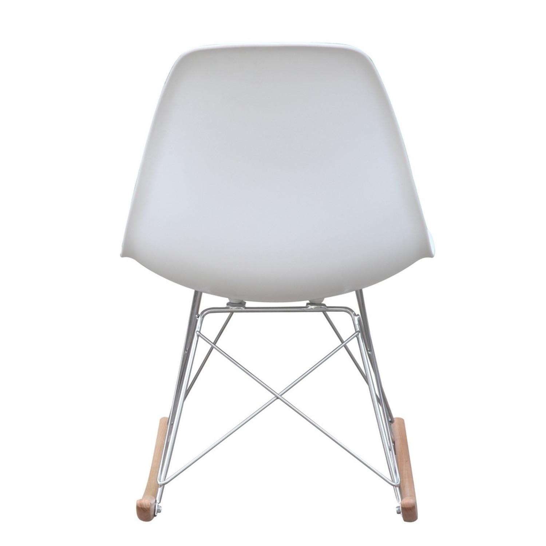 Rocker Side Chair In White Seat & Ash Wood Base - image-2