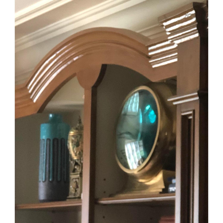 Huge Convex Artisan Brass Clock - image-4