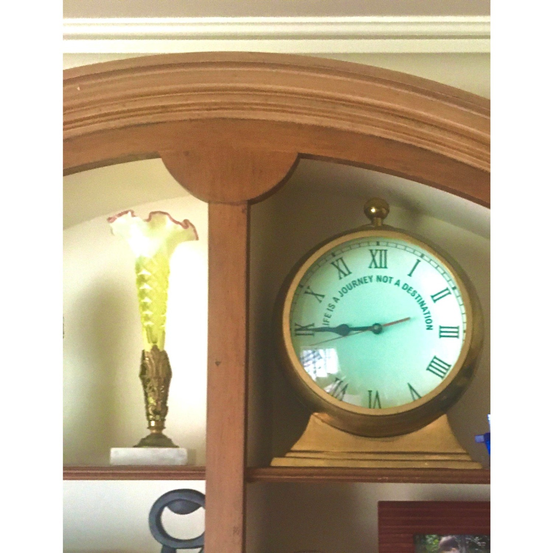 Huge Convex Artisan Brass Clock - image-1