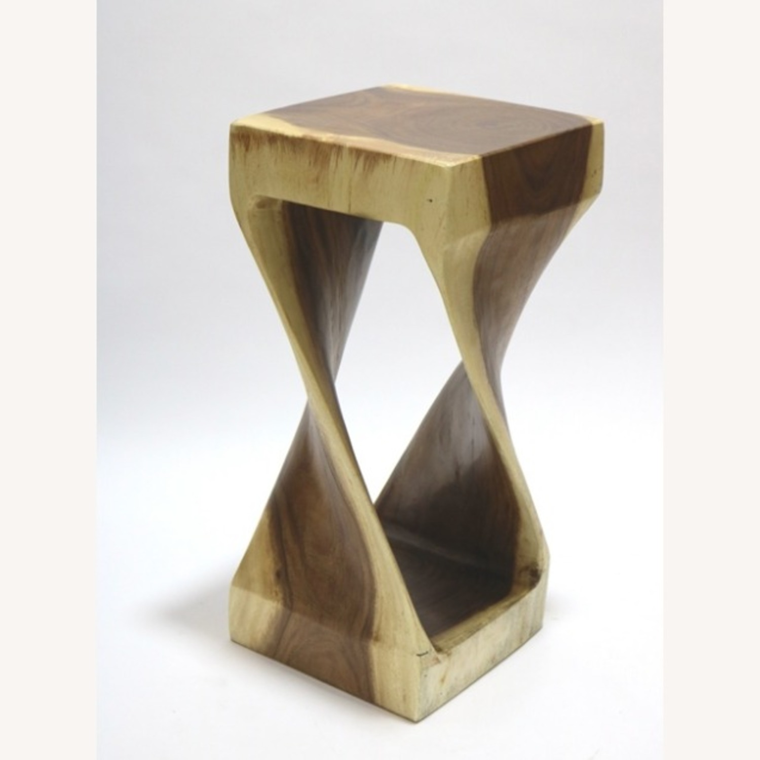 Counter Stool In Walnut Solid Wood Finish - image-2