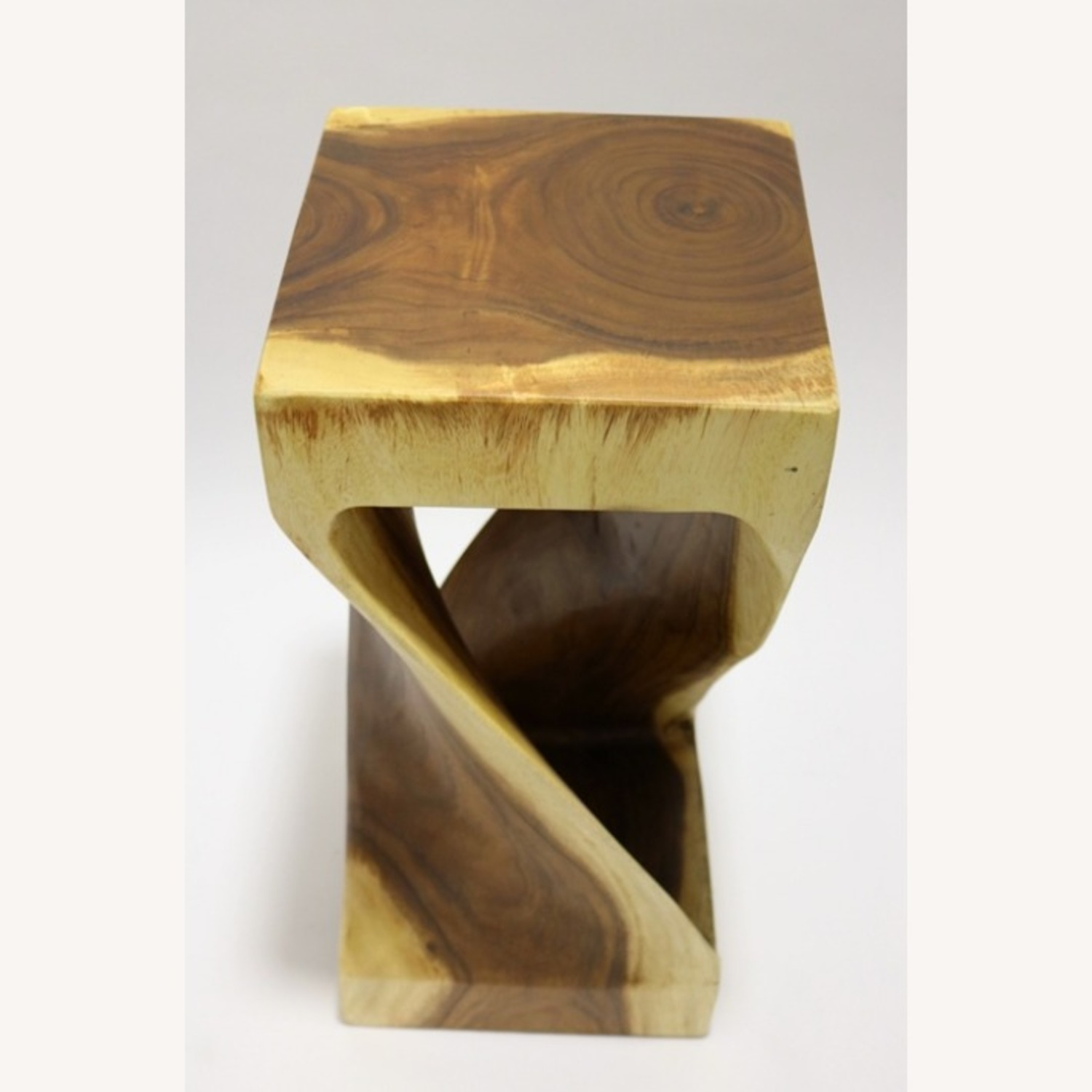 Counter Stool In Walnut Solid Wood Finish - image-3