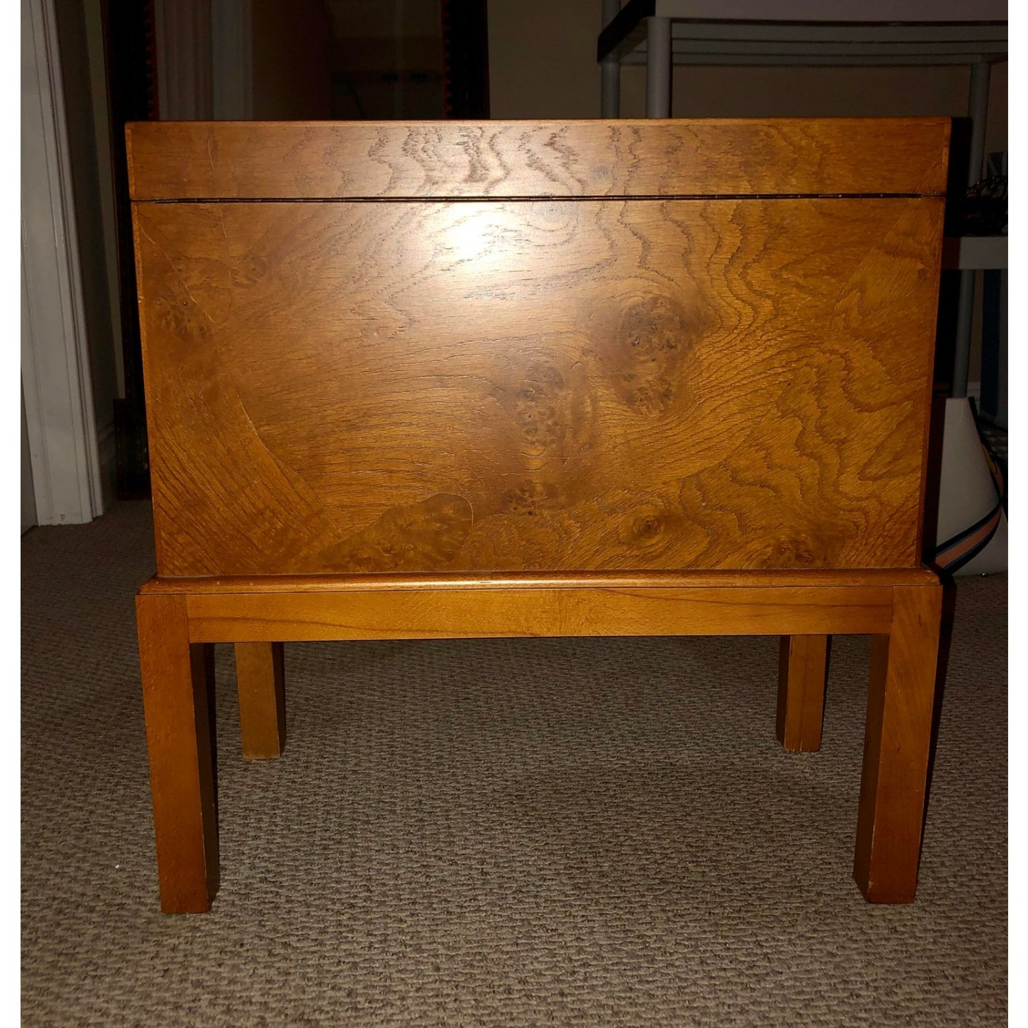 Vintage Wooden Keyhole Chest on Legs - image-5