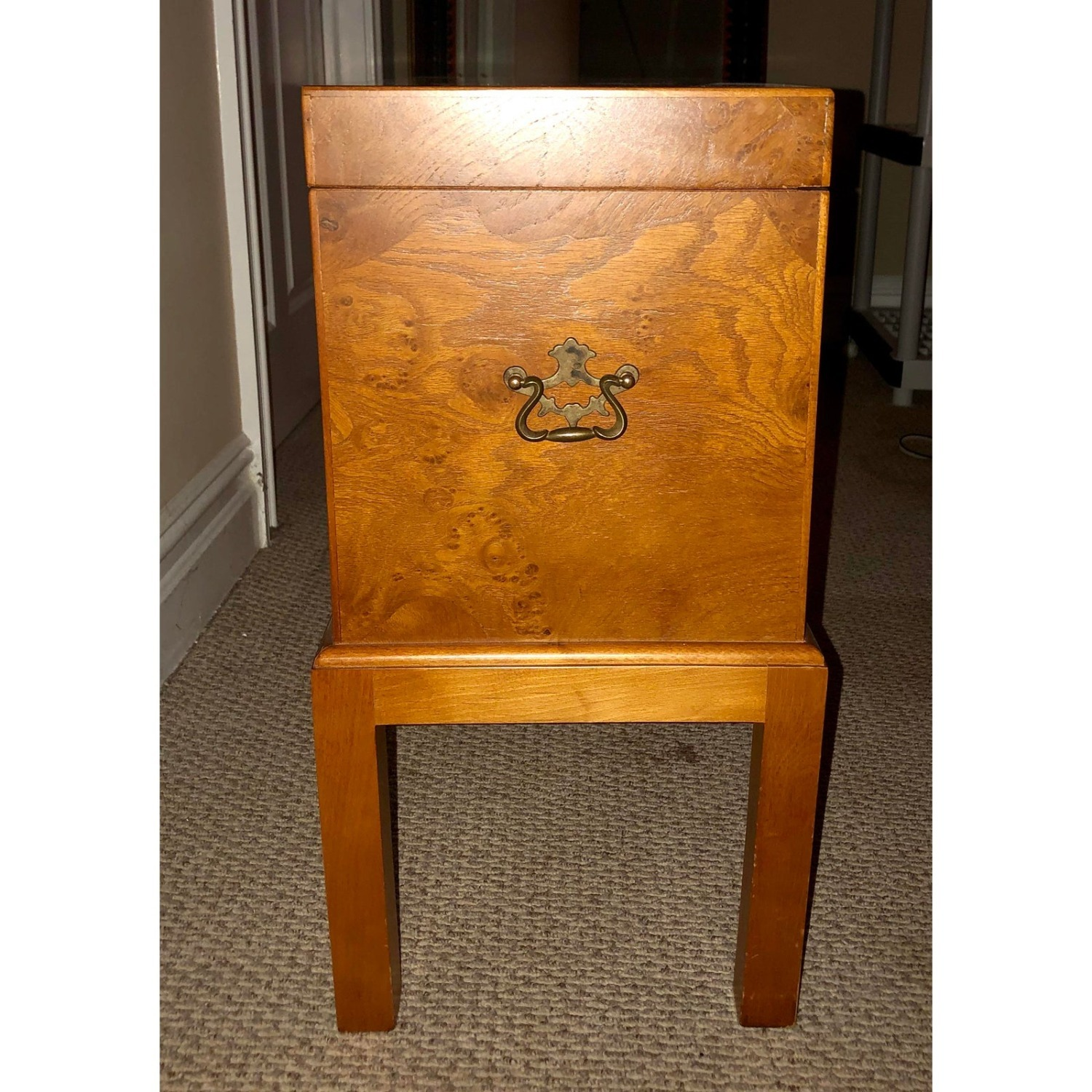 Vintage Wooden Keyhole Chest on Legs - image-4