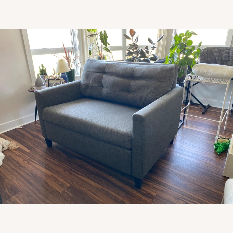 Crate & Barrel Karnes Twin Sleeper Sofa - image-1