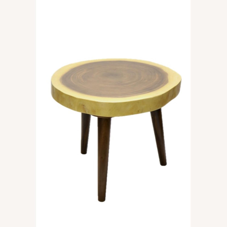 Block Coffee Table In Walnut Solid Wood Finish Aptdeco