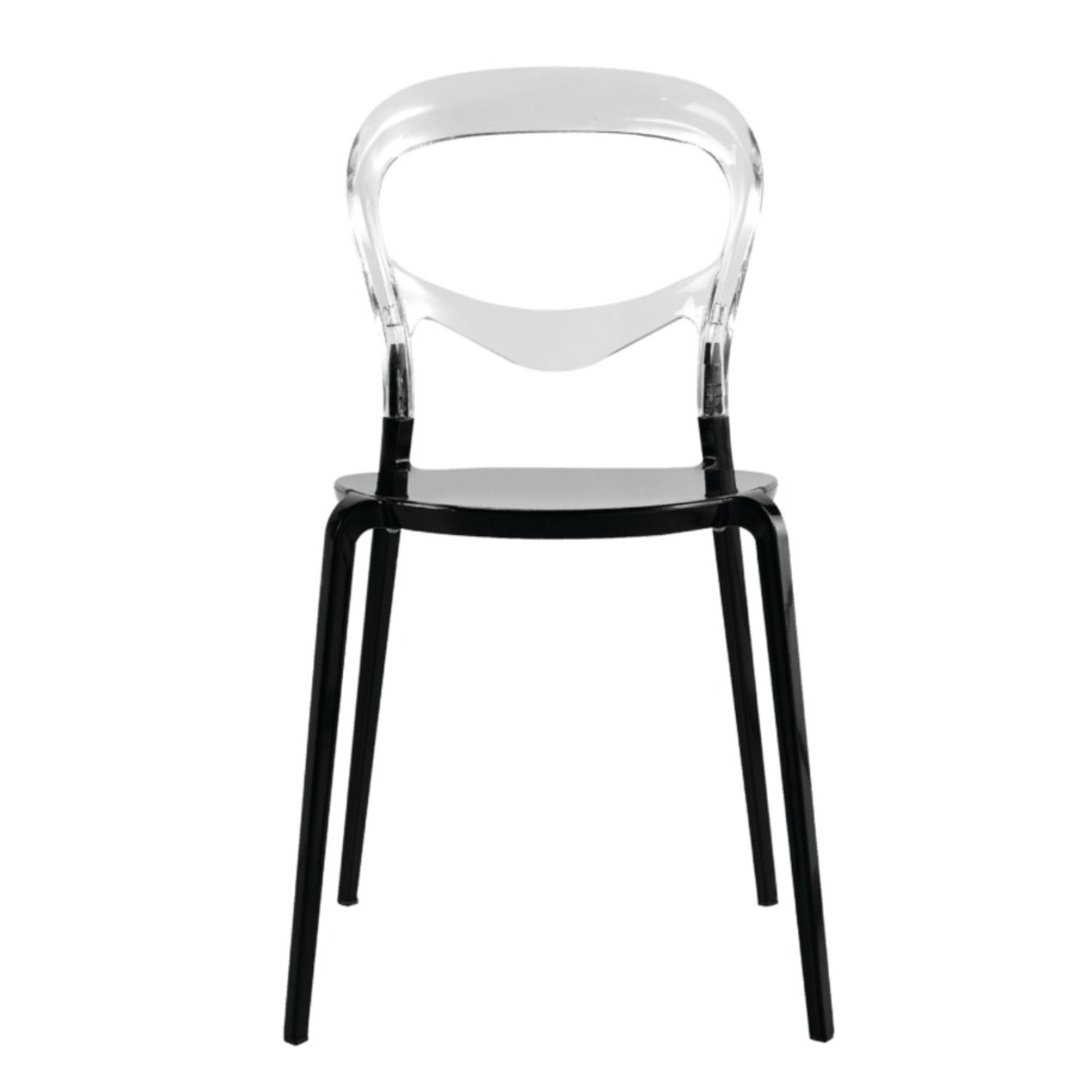 Dining Chair In Transparent Acrylic Finish - image-1