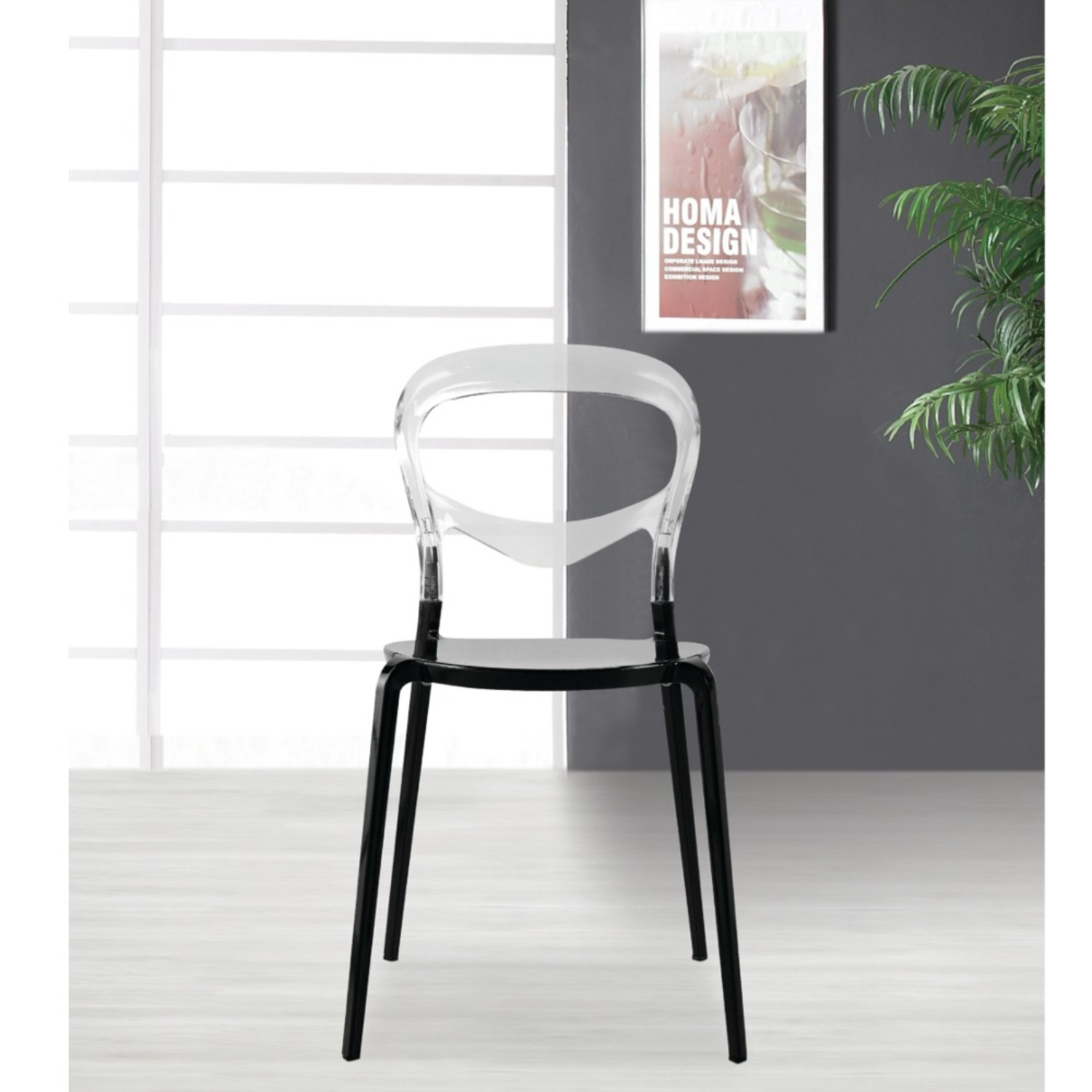 Dining Chair In Transparent Acrylic Finish - image-2