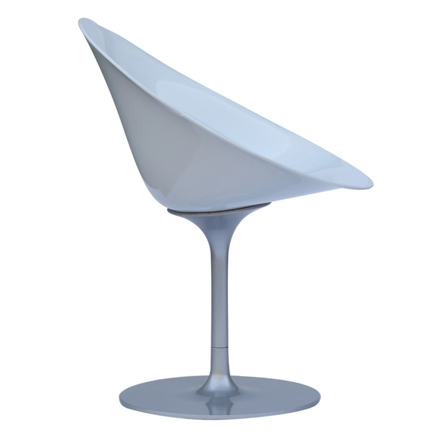 Side Chair In White ABS Frame - image-1