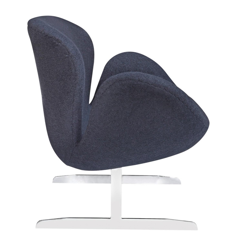 Modern Sofa In Black Wool Fabric & Aluminum Base - image-1