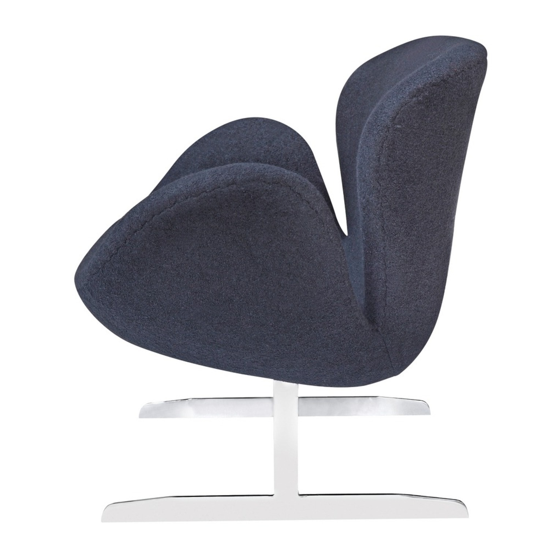 Modern Sofa In Black Wool Fabric & Aluminum Base - image-3