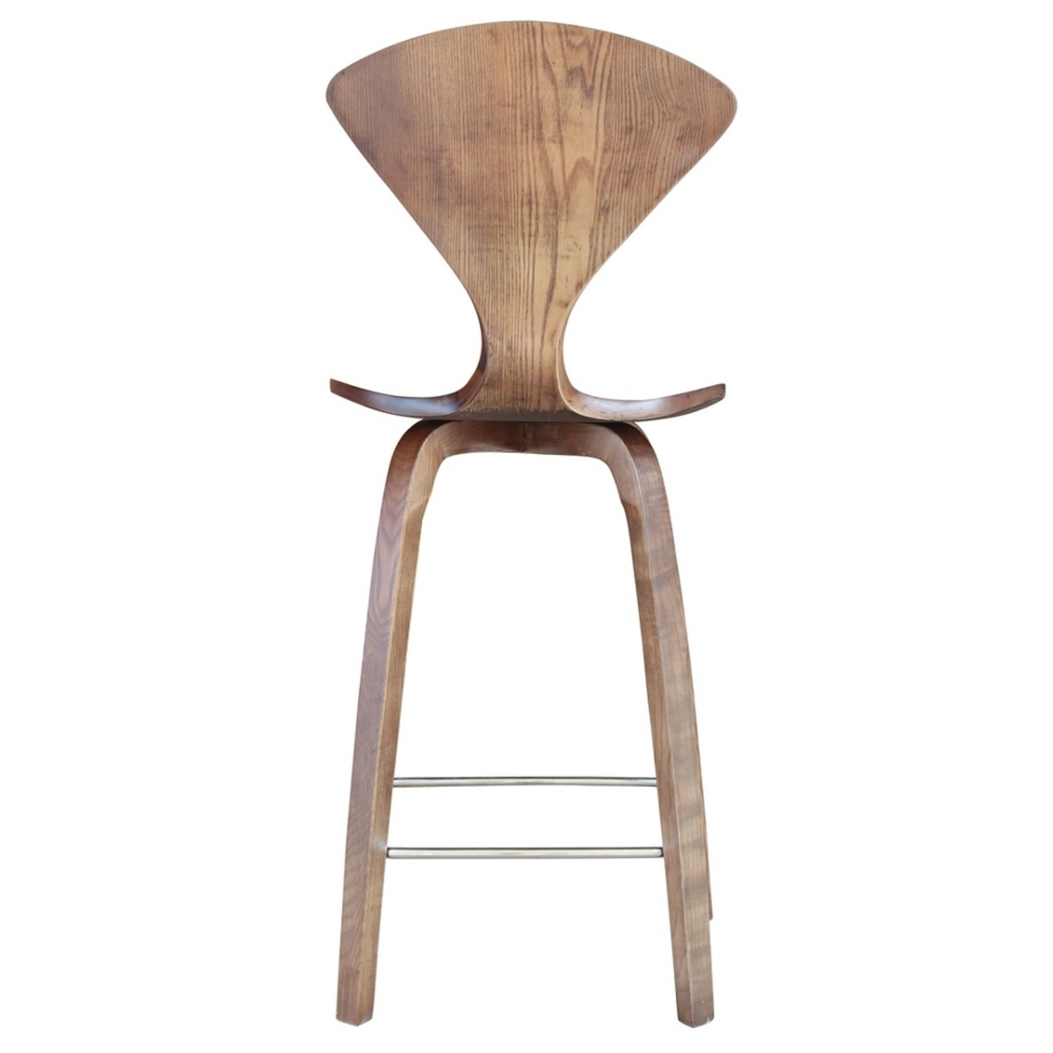 Counter Chair In Walnut Wood Finish - image-2