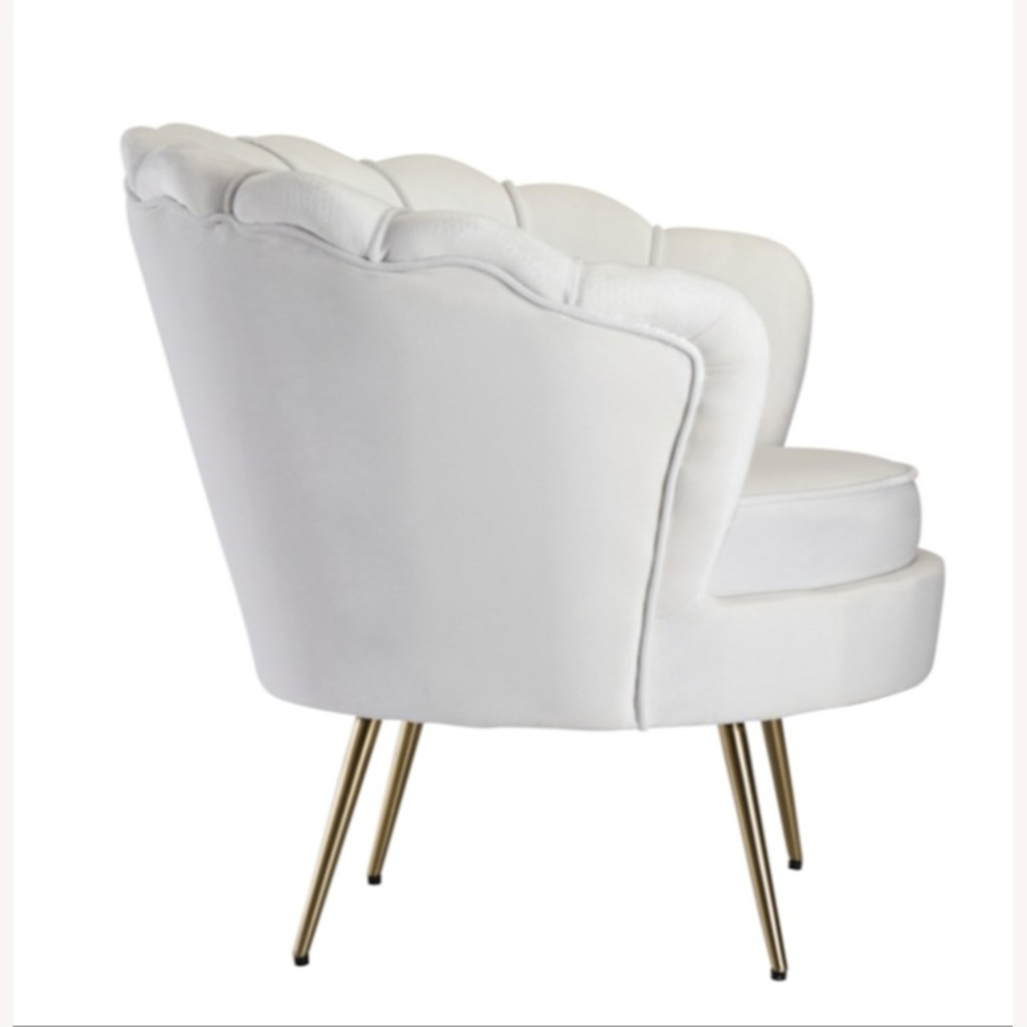 Modern Bridal Chair In White Suede Fabric - image-2