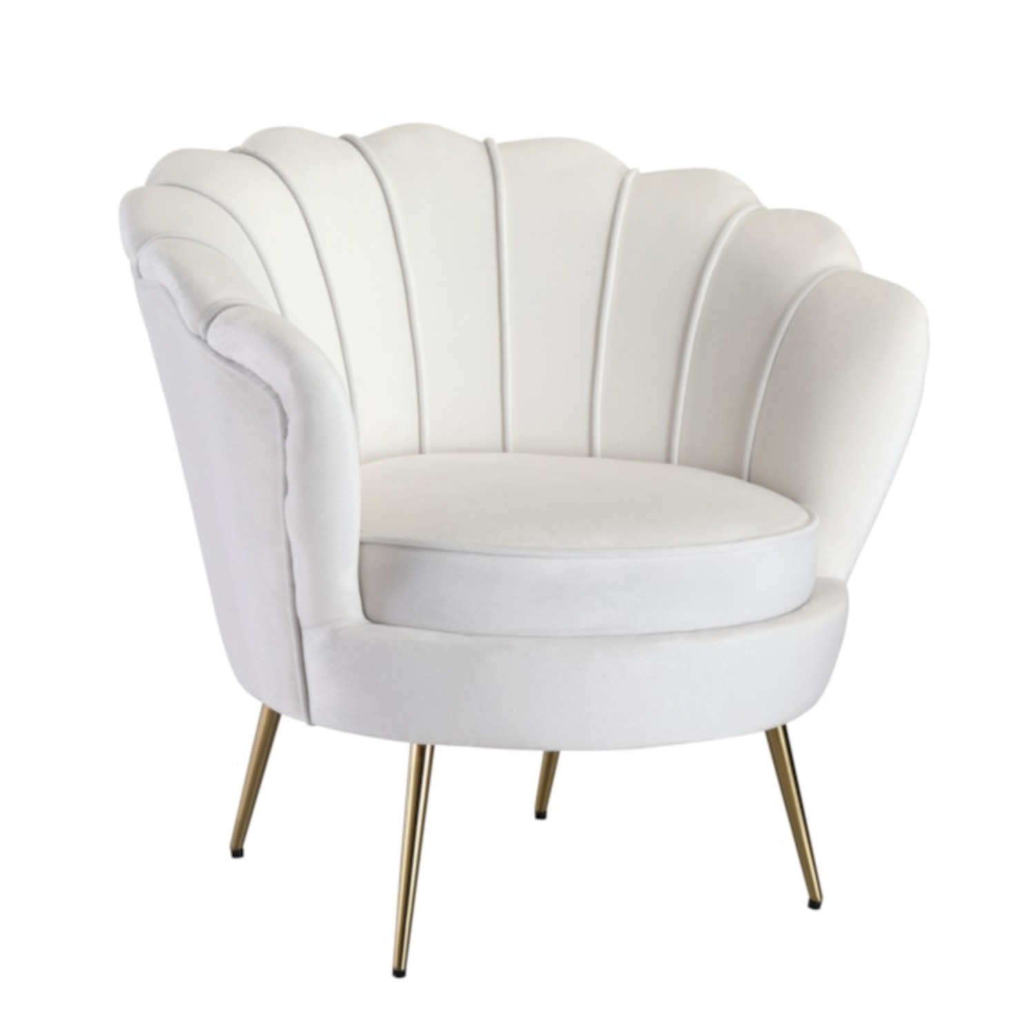 Modern Bridal Chair In White Suede Fabric - image-0
