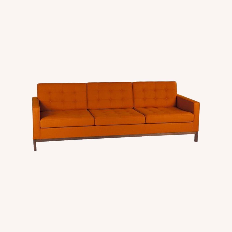 France & Son Orange Sofa for 3 - image-0