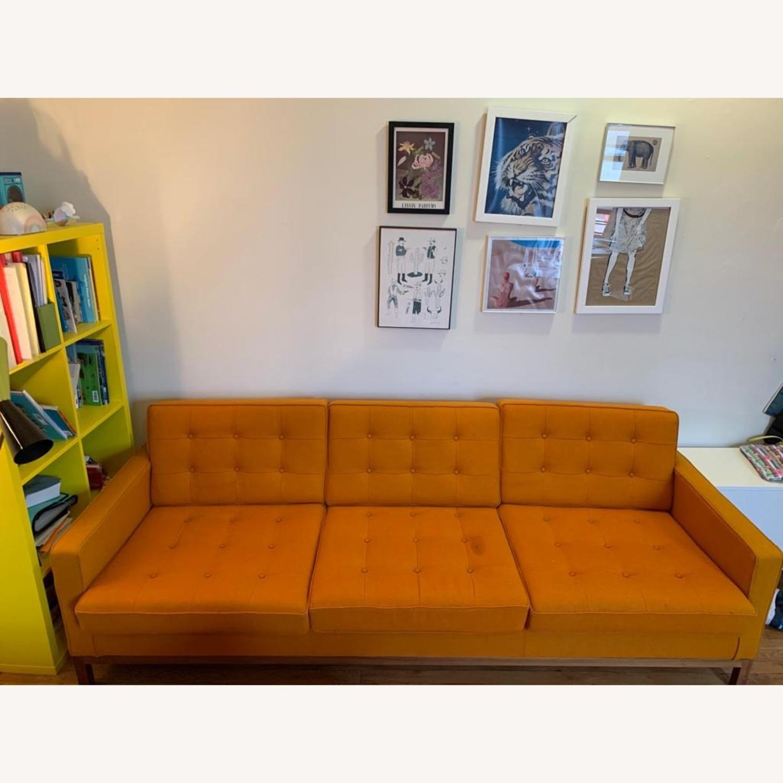France & Son Orange Sofa for 3 - image-4