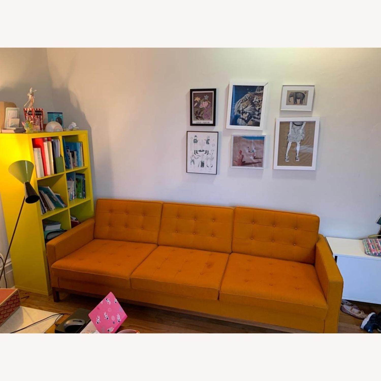 France & Son Orange Sofa for 3 - image-2