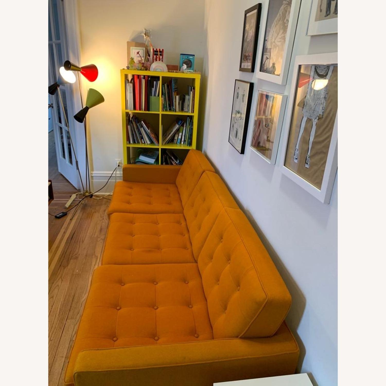 France & Son Orange Sofa for 3 - image-3