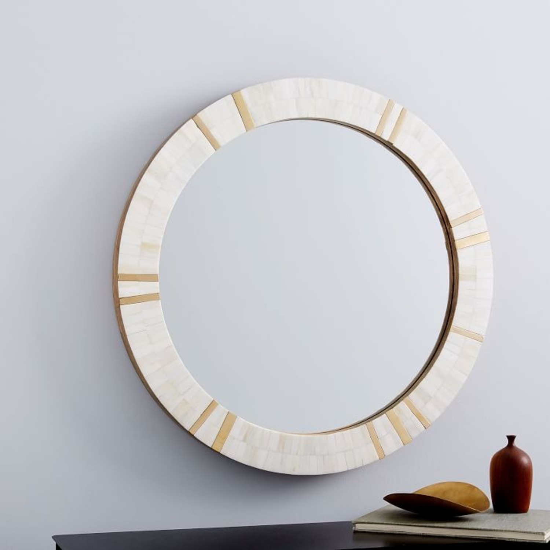 West Elm Brass + Bone Rays Wall Mirror - image-0