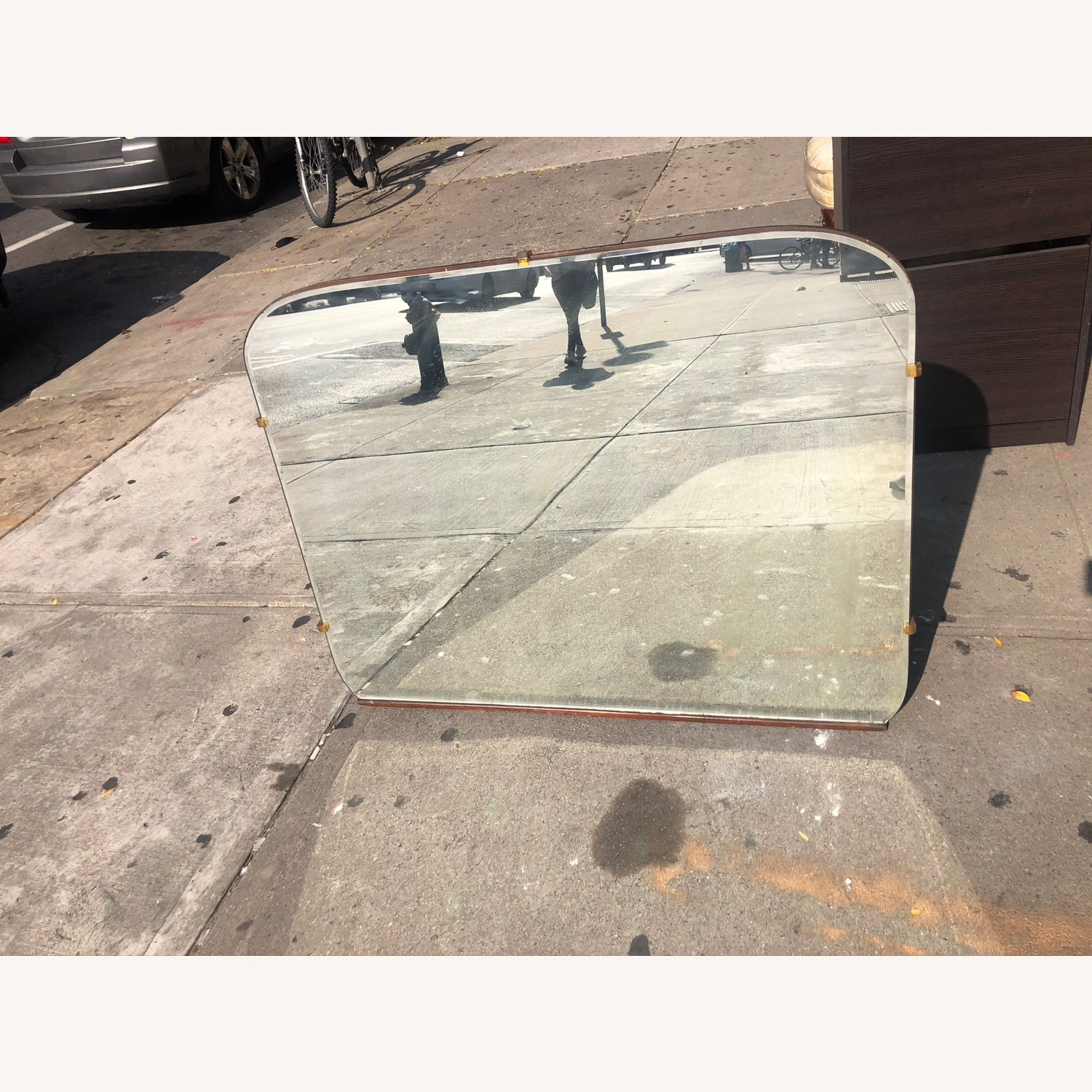 Antique 1930s Wall Mirror - image-1