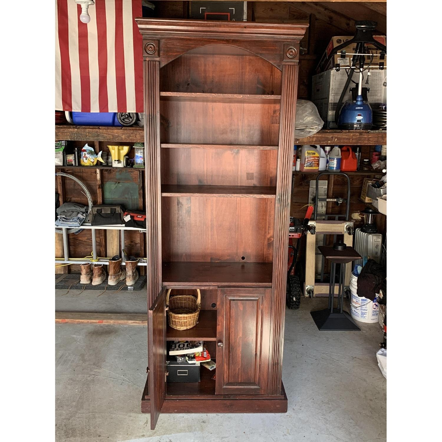 Solid Wood Gothic Cabinet Craft Custom Cabinet - image-2