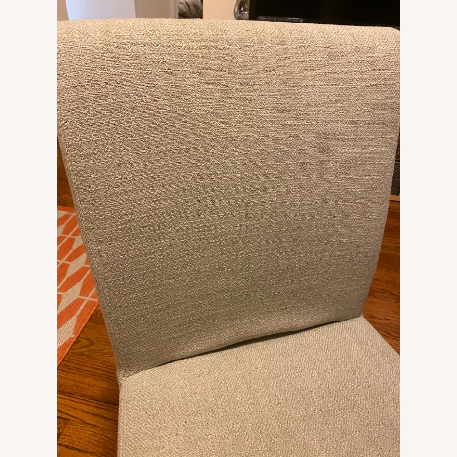 Crate & Barrel Lowe Chair Pewter Fabric (Set of 4) - image-3