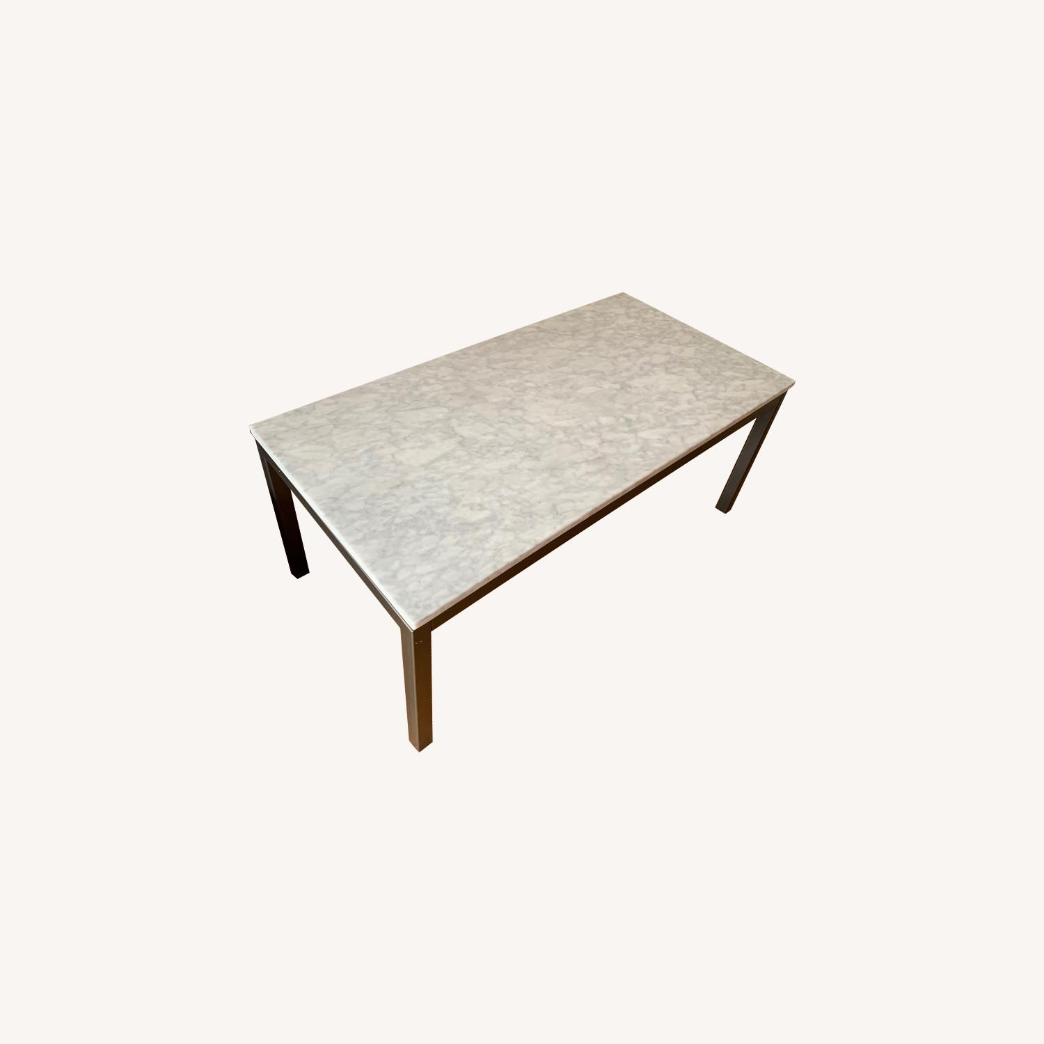 Real Marble Coffee Table - image-0