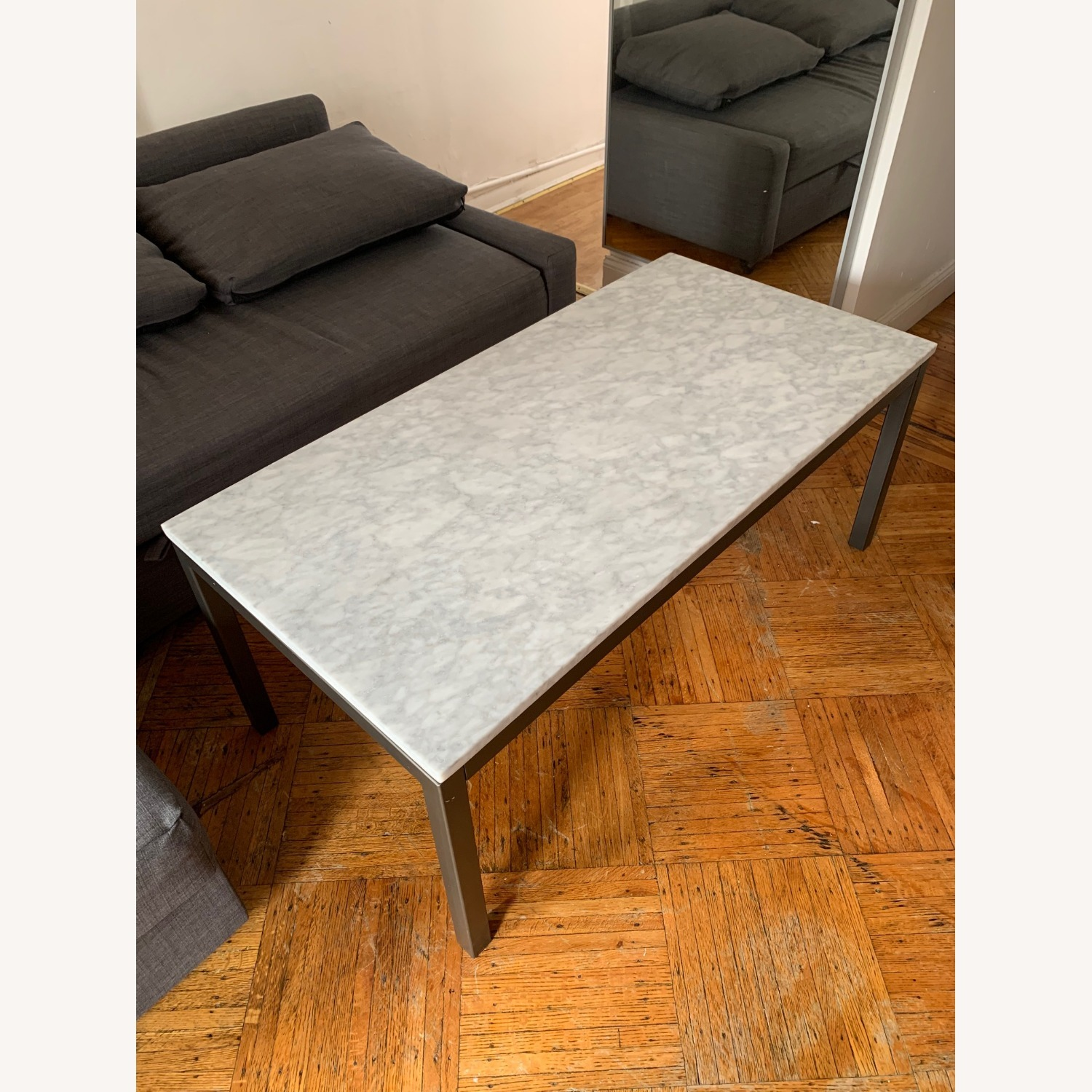 Real Marble Coffee Table - image-1
