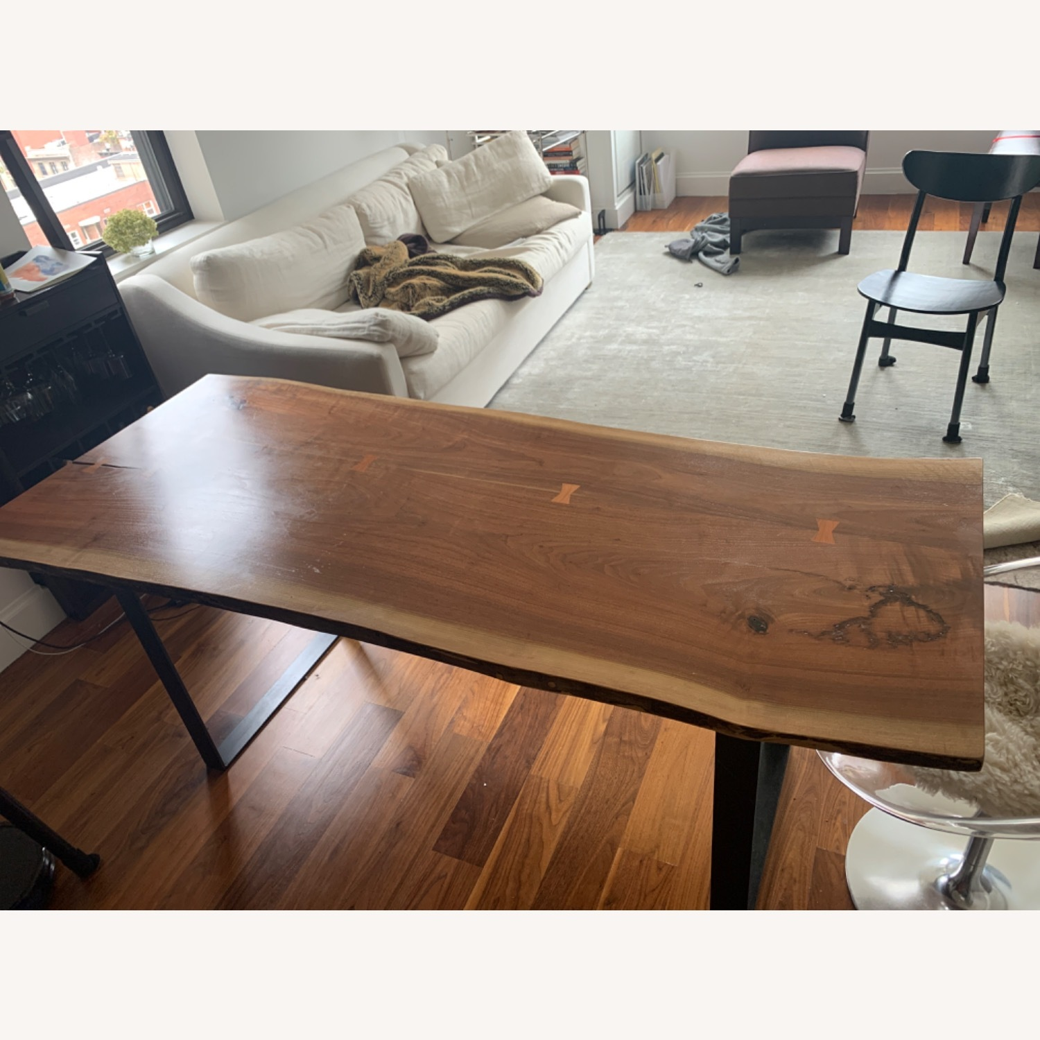 Room & Board Live Edge Acacia Wood Dining Table - image-2