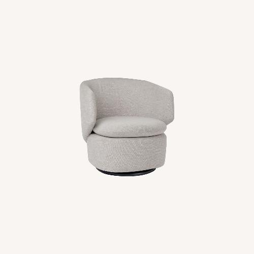 Used West Elm Crescent Swivel Chair for sale on AptDeco