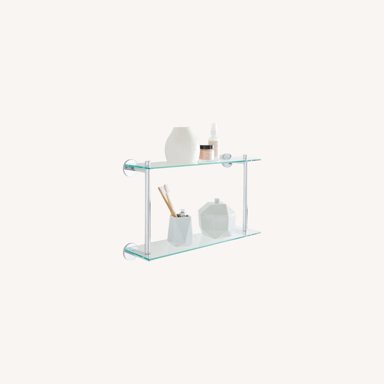 West Elm Modern Overhang Glass Bath Shelf - image-0