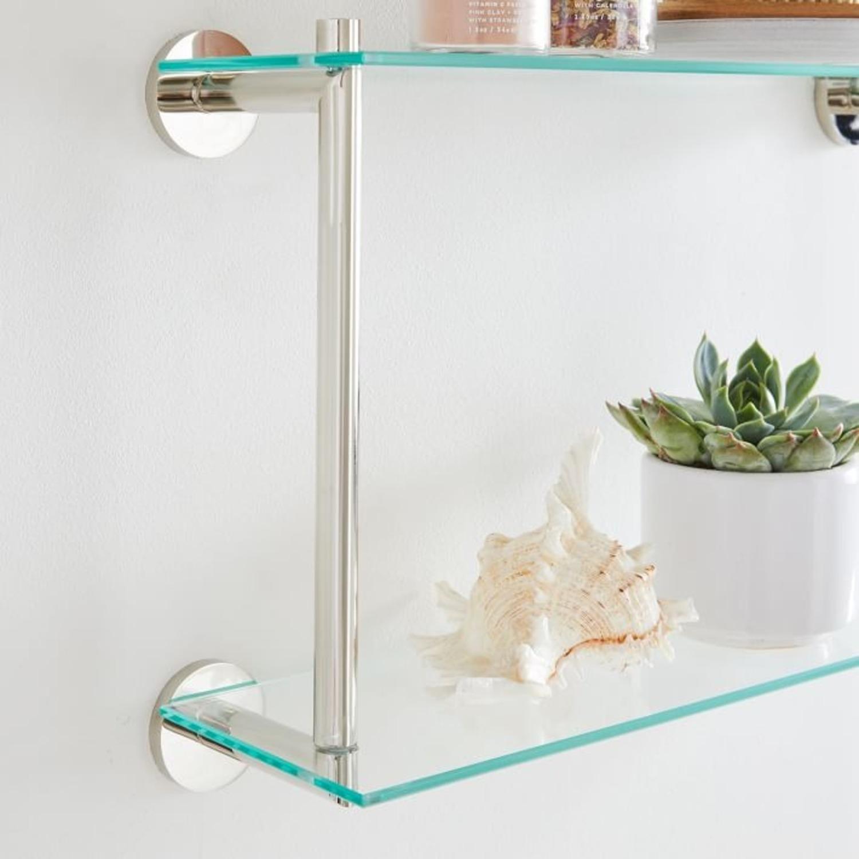 West Elm Modern Overhang Glass Bath Shelf - image-3