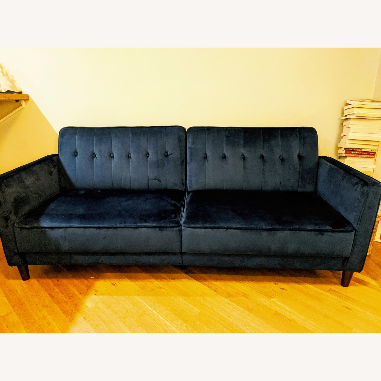 Wayfair Nia Velvet Sleeper Sofa - image-1