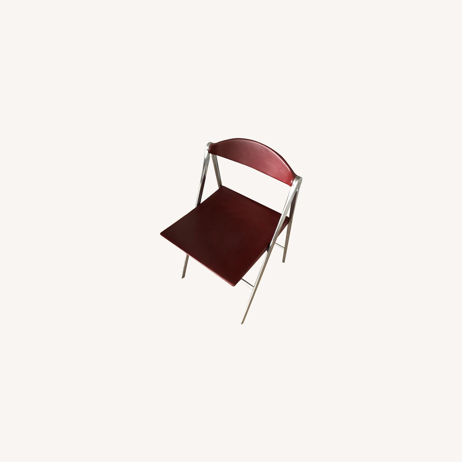 Poltrona Frau Leather Dining Foldable Chairs - image-0