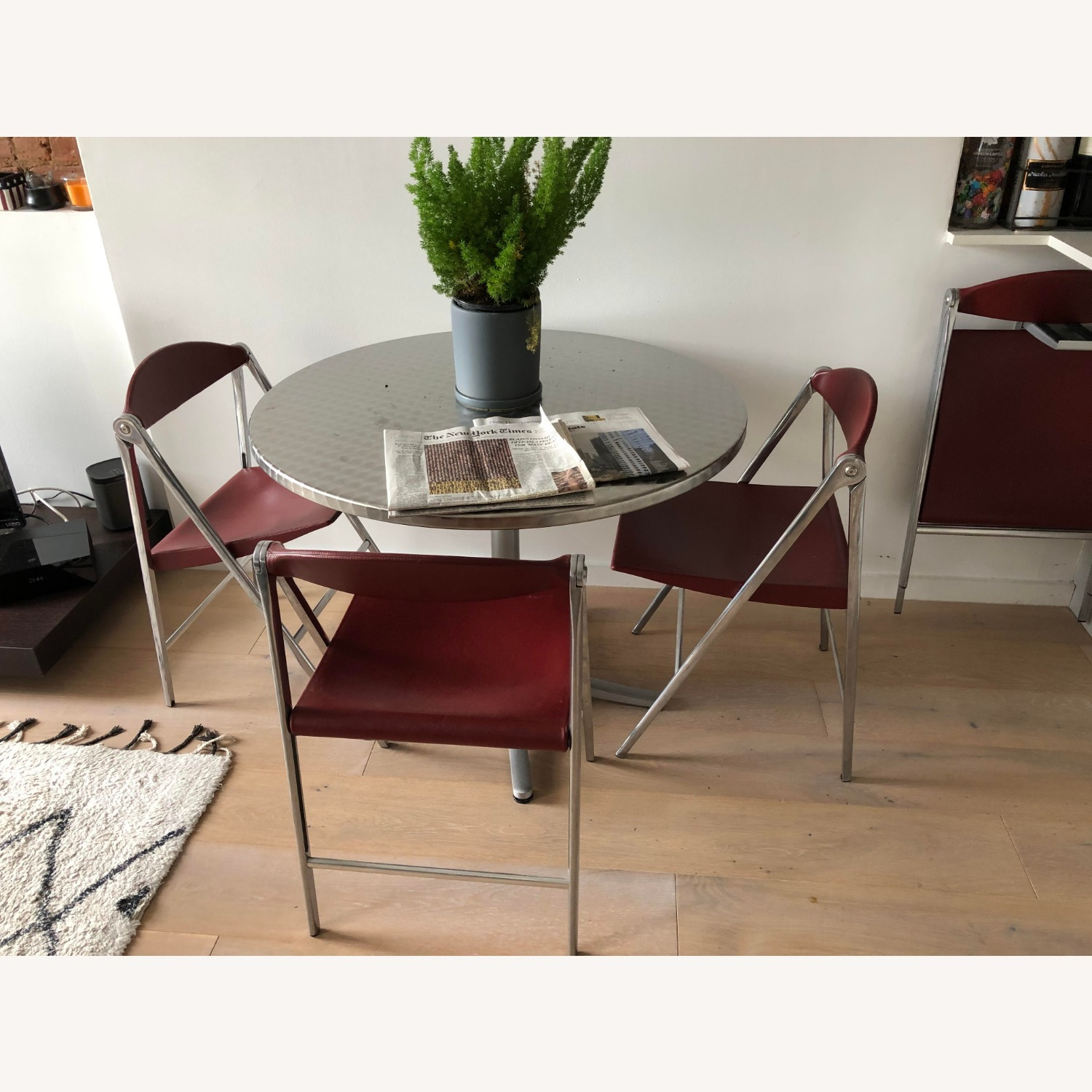 Poltrona Frau Leather Dining Foldable Chairs - image-1