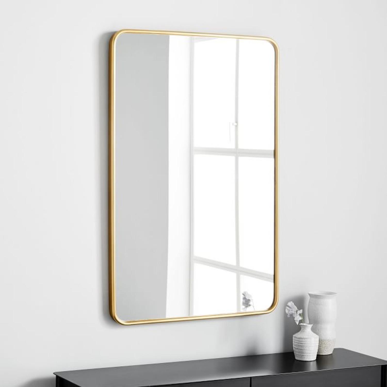 West Elm Modern Streamline Wall Mirror - image-1